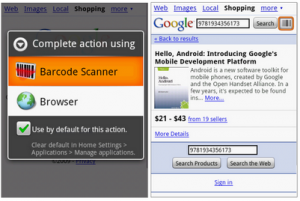android apps google barcode scanner 300x201 Free Android apps categorized to organize your Droid life