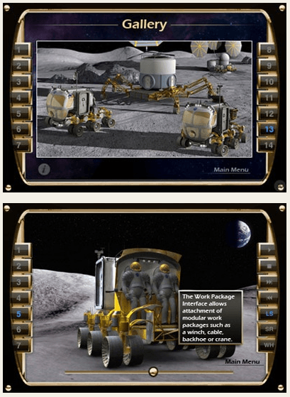 nasa rover iphone app game gallery Screenshots of LER Simulator iPhone app [NASA]