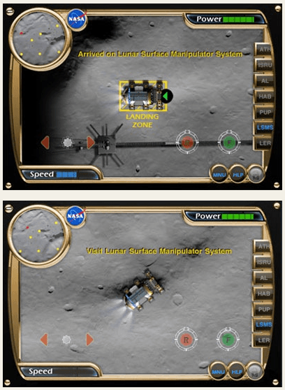 nasa rover iphone app game Screenshots of LER Simulator iPhone app [NASA]