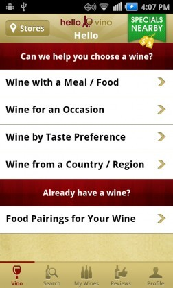 hello vino 252x420 Cheers! Heres 5 Great Android Apps for Wine Lovers