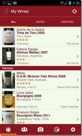 vivino app e1366753277204 Cheers! Heres 5 Great Android Apps for Wine Lovers