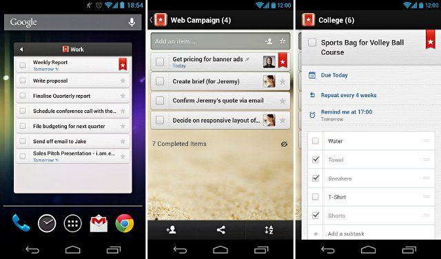 androgeek wunderlist Top Android To Do List Apps