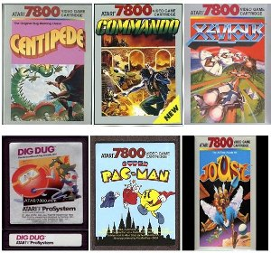 games collage1 Open Source Code from 17 Atari 7800 Games Released!