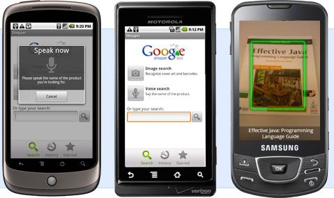 hero Google Mobile Shopper Android app launched (Video)