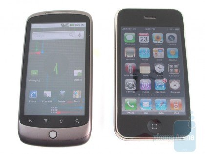 smartphone iphone 3gs htc nexus one 420x315 HTC Nexus One vs. iPhone 3GS comparison (Video)